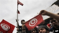 Protesters during the Tunisia riots (file photo)