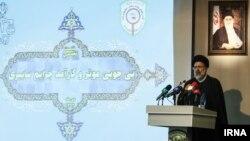 ابراهیم رئیس دادستان کل کشور در نشست مشترک پلیس فتا و قوه قضائیه در تهران - ۱۲ دی ۱۳۹۴