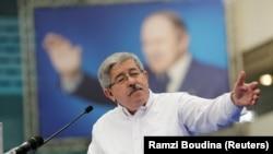 Ahmed Ouyahia, chef du Rallye pour la Démocratie nationale (RND), lors d'une campagne électorale parlementaire à Alger, en Algérie, le 29 avril 2017.