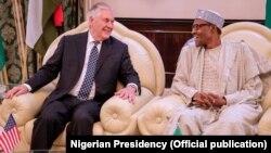 Sakataren harkokin wajen Amurka, Rex Tillerson da shugaba Buhari