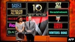 Glumica Monik i predsednik Akademije filmske umetnosti i nauke Tom Šerak saopštili su kandidate za Oskare 2011.