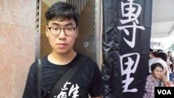 香港浸會大學傳理系學生Matthew (美國之音特約記者 湯惠芸拍攝)