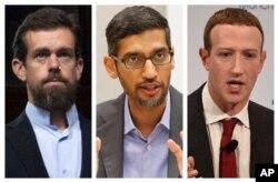 Власники компаній Твітер, Гугл та Фейсбук
