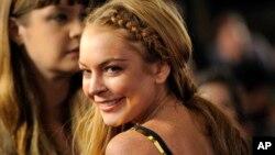 """La problemática actriz Lindsay Lohan durante la premiere de """"Scary Movie V""""."""