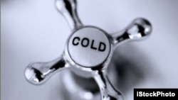'Cold' as an adverb means suddenly and completely.