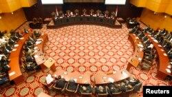 Suasana ruang sidang Mahkamah Konstitusi Republik Indonesia. (Foto: Dok)