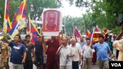 Tibetans in Delhi Protest Outside Chinese Embassy