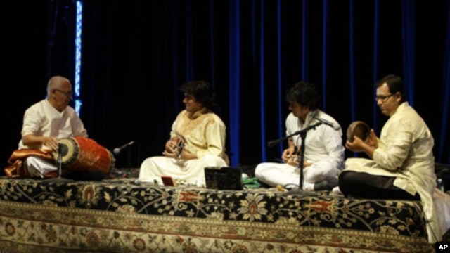 U. Shrivinas on stage at the Kennedy Center in Washington