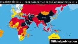 RSF က ထုတ္ျပန္တဲ့ သတင္းမီဒီယာလြတ္လပ္ခြင့္ ၂၀၁၅။