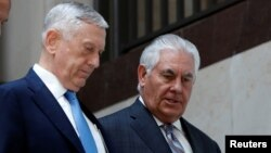 Los secretarios de Defensa, Jim Mattis, y de Estado, Rex Tillerson, tienen previsto testificar el lunes ante la Comisión de Relaciones Exteriores del Senado sobre los poderes de guerra.
