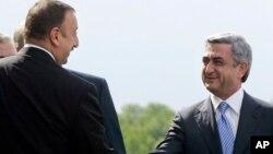 Ильхам Алиев и Серж Саргсян. Архивное фото.