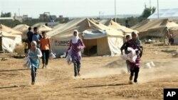 Лагерь сирийских беженцев в Йордании