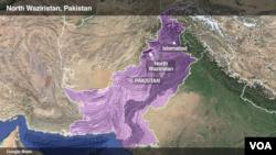 شمالي وزیرستان د افغانستان پولې ته څیرمه پرته قبائیلي سیمه ده