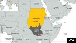 Sudan - South Sudan map