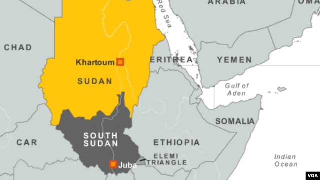 Sudan - South Sudan map