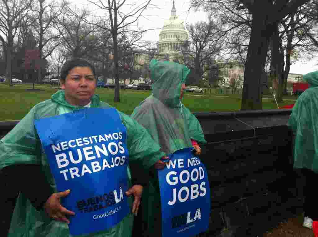 En este grupo del sindicato de trabajadores United, se encuentran representantes de varias ciudades en California y de Nueva York.