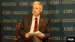 21일 워싱턴 민간단체인 전략국제문제연구소의 토론회에 참석한 월터 샤프 전 주한미군사령관.