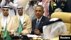 Rais wa Marekani Barack Obama akishirikikatika mkutano wa Gulf Cooperation Council (GCC) mjini Riyadh, Saudi Arabia April 21, 2016.