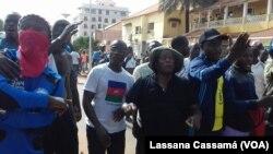 Marcha de partidos políticos da oposição na Guiné-Bissau