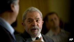 L'ancien président du Brésil, Luiz Inacio Lula da Silva.(AP Photo/Silvia Izquierdo)