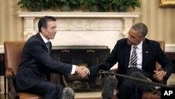 Андерс фог Расмуссен и Барак Обама