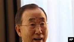 Katibu mkuu wa Umoja wa mataifa Ban Ki-Moon .