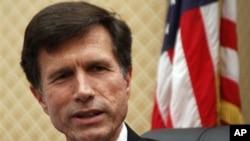 U.S. Assistant Secretary of State Robert Blake speaks at a news conference in Bishkek, Kyrgyzstan (FILE).