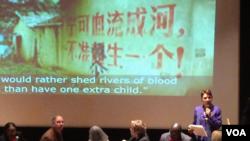 瑞潔:強制墮胎是對中國婦女的戰爭(美國之音方冰拍攝)