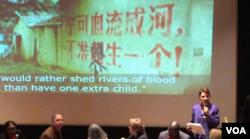 瑞洁:强制堕胎是对中国妇女的战争 (美国之音方冰拍摄)