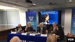威尔逊国际访问学者中心举行美台关系研讨会 (美国之音钟辰芳拍摄)