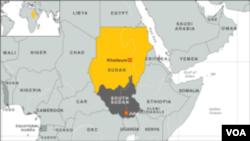 苏丹、南苏丹地图