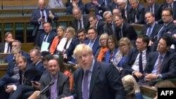 Firai Ministan Birtanoya Boris Johnson yana jawabi a majalisar akilan kasar