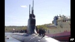 """資料照片:美國海軍""""康涅狄格""""號核動力快速攻擊潛艇。"""