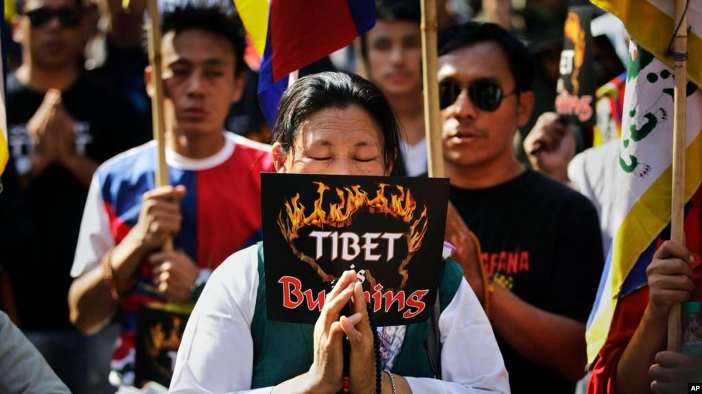 流亡藏人示威。 (資料照)