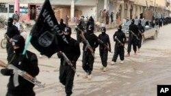 """""""داعش"""" کے عسکریت پسند(فائل فوٹو)"""