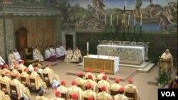 Messe dans la chapelle Sixtine