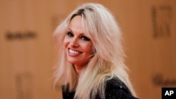 FILE - American actress and animal right activist Pamela Anderson is seen in a Nov. 12, 2015, photo.