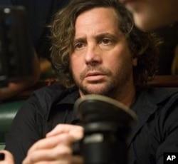 "Director Samuel Bayer on the set of ""A Nightmare on Elm Street"""