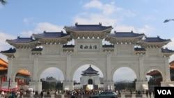 中正紀念堂前的自由廣場(美國之音楊明拍攝)
