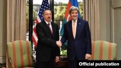 Ilham Əliyev və Con Kerri