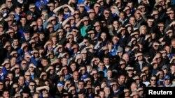 Les supporters d'Everton, 3 novembre 2013
