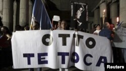 El presidente Otto Pérez Molina insiste que no ha hecho nada malo y que no va a renunciar.