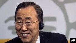 Katibu mkuu wa umoja wa mataifa Ban Ki Moon katika picha