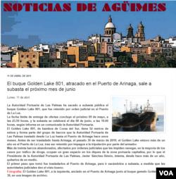 골든레이크 801호는 지난 1968년 만들어진 한국 어선으로, 2009년 운항사가 부도처린 난 후, 2011년 스페인령 라스팔마스 지역 신문에 경매 기사가 실리기도 했다.