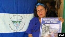 Liseth Pérez, excombatiente en Nicaragua, denuncia que el Gobierno sandinista se ha ensañado contra sus compañeros.