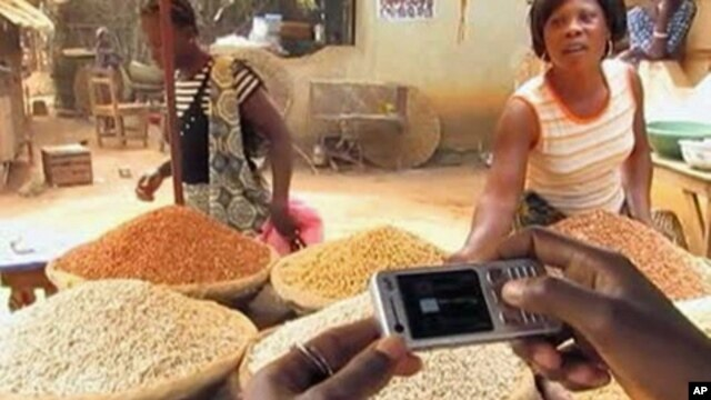Developing world farmers receive tips on improving crop yields by watching how-to videos on their mobile phones.