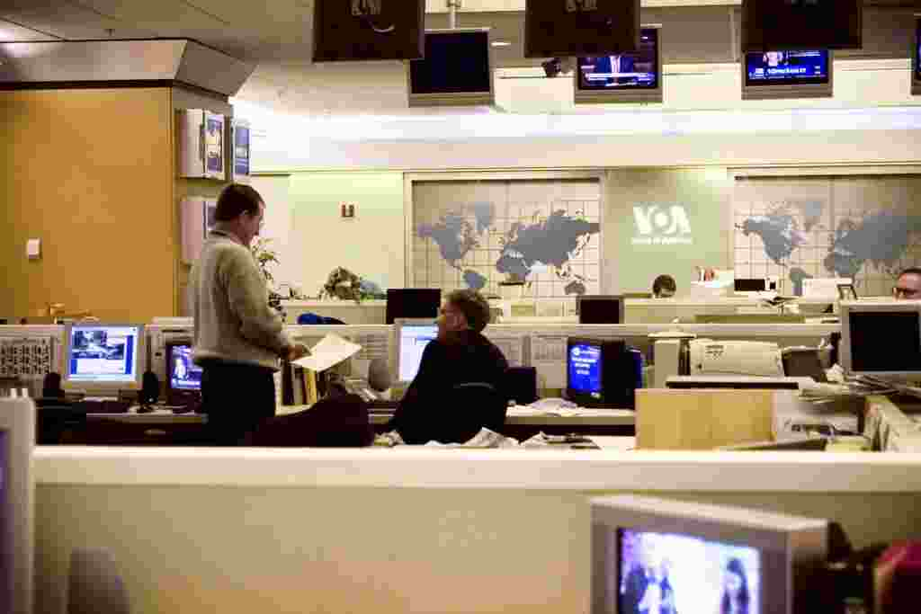 Our 30,000 square foot Newscenter is home to our central radio, television, and internet news services.