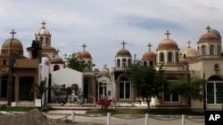 Mausoleos en un cementerio de Culiacán, México, en honor de jóvenes que han muerto en el estado de Sinaloa, conocido como cuna del narcotráfico en el país.