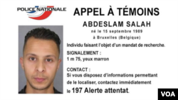 FILE - Police handout photo of Salah Abdeslam, a Belgian national French police arrested in connection with Paris terror attacks. (Police Nationale Handout Photo)