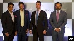 دونالد ترمپ جونیر با شماری از سرمایه گذاران هندی در هند
